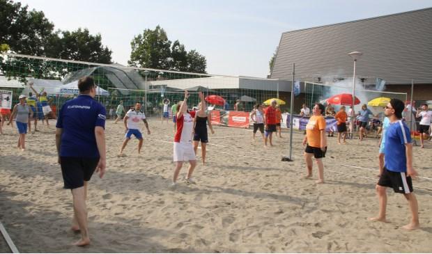 Het was erg gezellig tijdens het Beach Volleybal Toernooi.