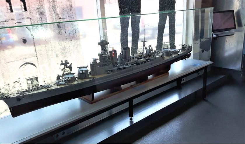 Schaalmodel van HMS Hood.
