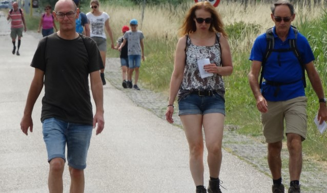 WSC Vosmeer ziet steeds minder jongere wandelaars meedoen aan de Zevendorpentocht. FOTO JOSIEN MATHLENER