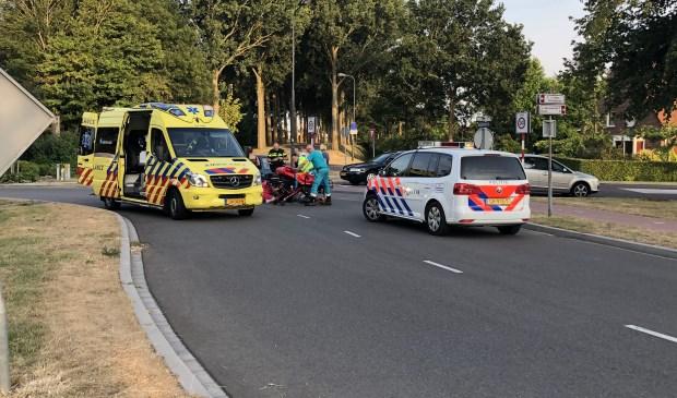 Een fietser heeft een forse hoofdwond opgelopen bij een ongeval.