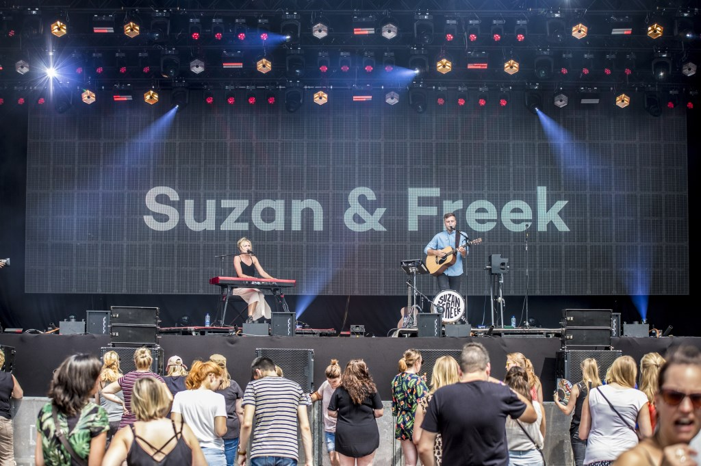 Suzan en Freek tijdens Breda Live 2018. Foto: Vinnie de Laat / Click United © BredaVandaag