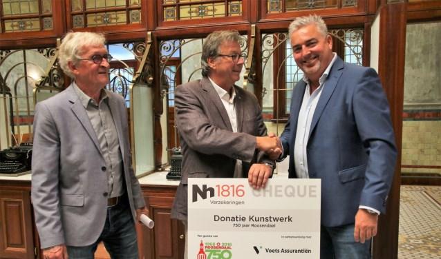 Van links naar rechts Toon van Oers, Cor Verbogt en Rob van Sprundel.