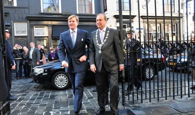 Bezoek van toen nog prins Willem-Alexander aan de Grote Kerk in 2010.
