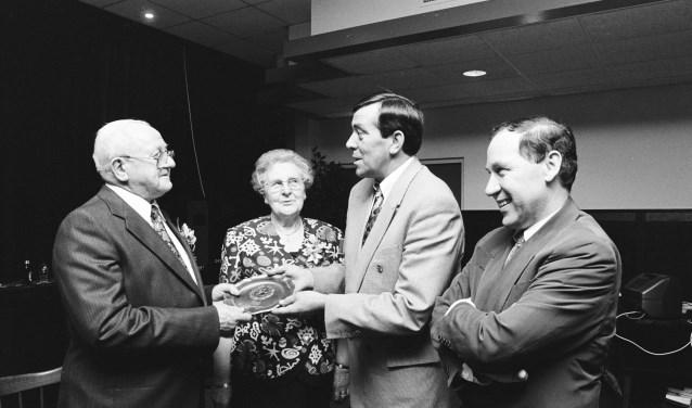 Joke en Piet Snijders in 1993.FOTO STADSARCHIEF