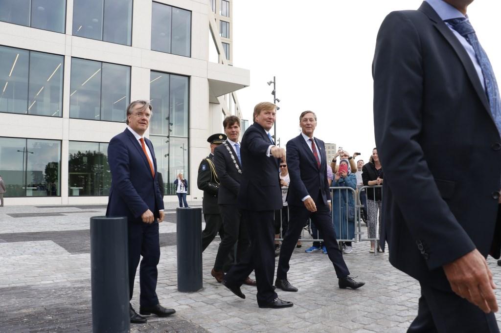 Koning Willem-Alexander opent het nieuwe Gerechtsgebouw, vrijdag 14 september 2018.