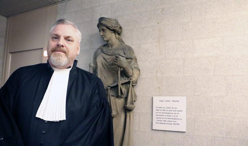 Advocaat Peter Schouten in de rechtbank.