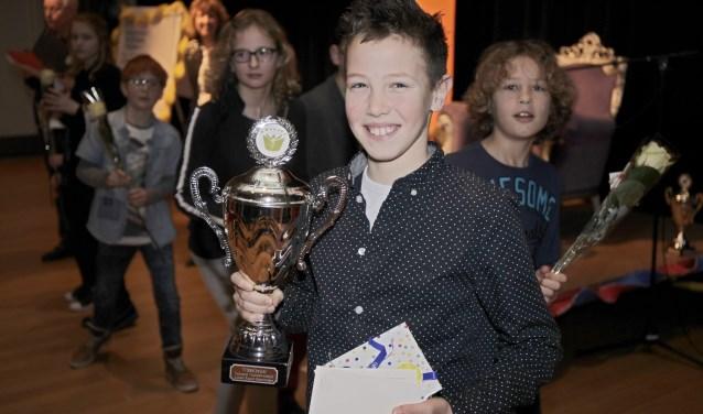 Guus Weterings won in 2018 de Steenbergse voorleeswedstrijd.