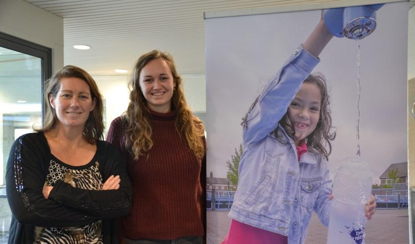 Meike en Simone werken hard aan een gezonde leefomgeving voor kinderen FOTO REMKO VERMUNT
