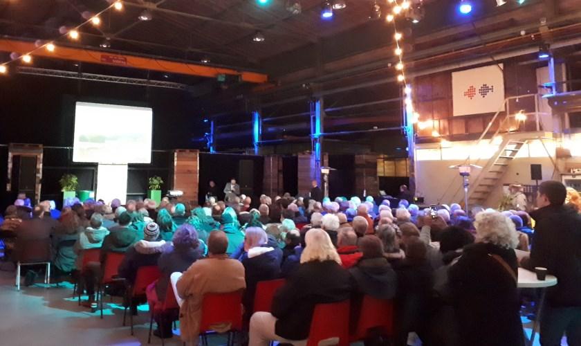 De Lasloods zit vol voor de bijeenkomst over het Nollebos.