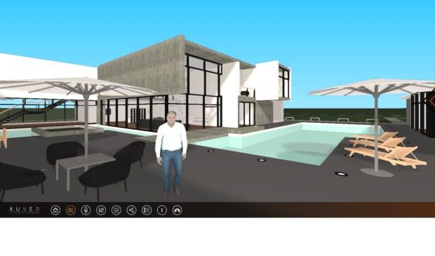 Een screenshot van een virtuele rondleiding in Xuver.