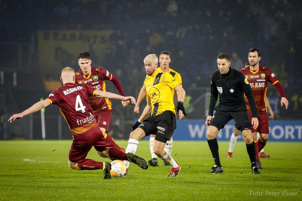 NAC speelde vrijdag 25 januari 1-1 gelijk tegen ADO Den Haag. Foto: Peter Visser © BredaVandaag