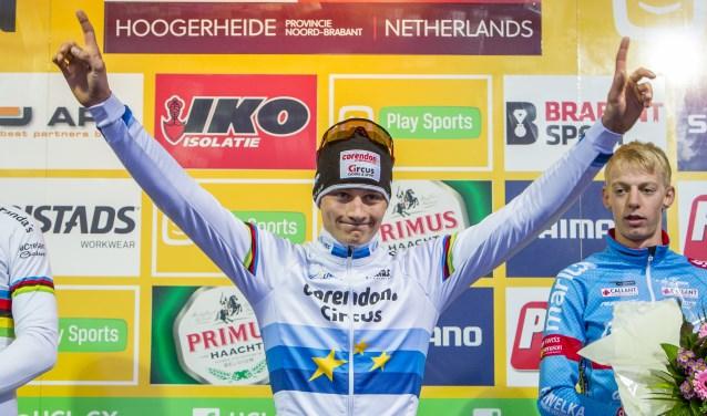 Mathieu van der Poel bij de GP Adrie van der Poel.