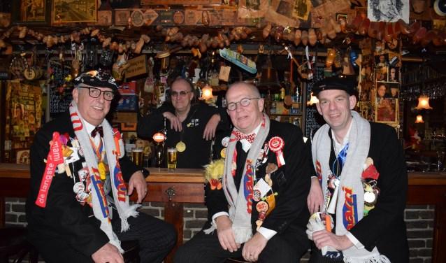 Vlnr René Starink, Jac van Dongen, Anton van Dorst en Bastiaan Anink. FOTO STELLA MARIJNISSEN
