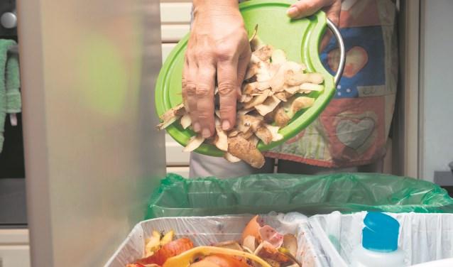 Etensresten mogen ook bij het gft-afval.