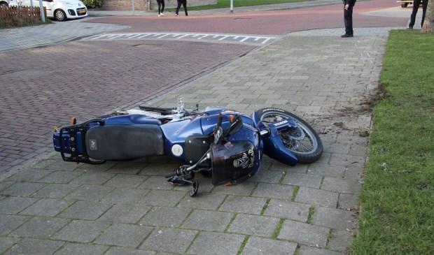De motor raakte beschadigd bij het ongeval.