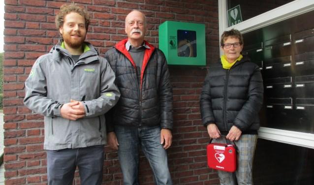 De AED zit in de portiek van de Noorderster.