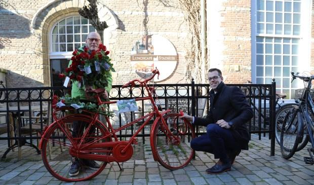 Theo Schouwenaar en Derk Alssema van de gemeente Goes.