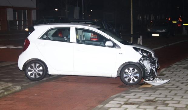 De achterste auto raakte het meest beschadigd.