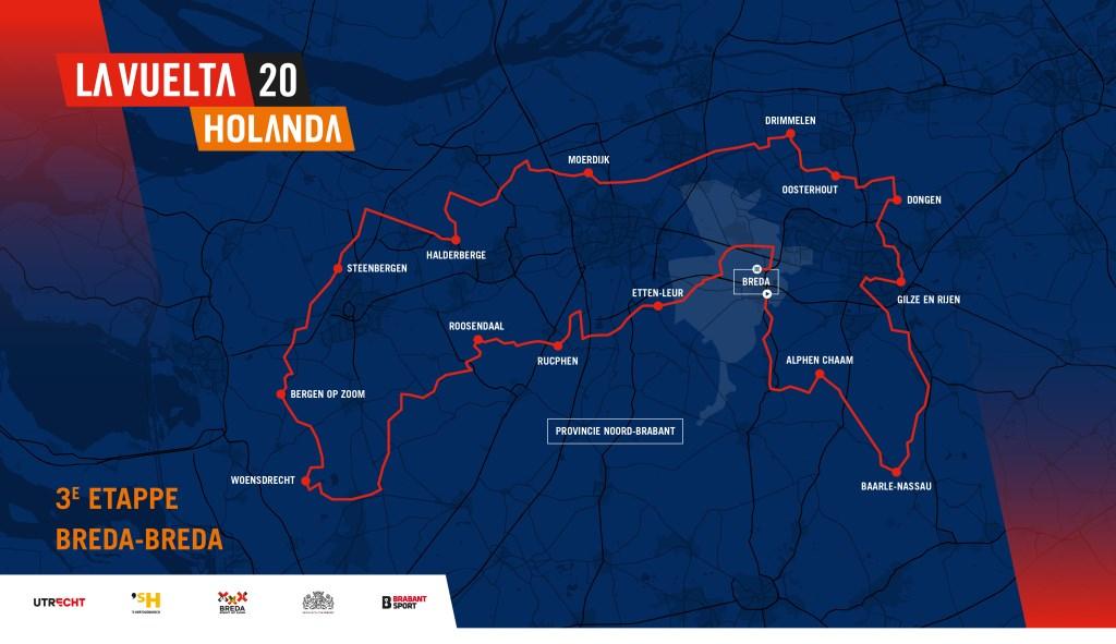 De etappe Breda-Breda, die in augustus 2020 verreden wordt.  © BredaVandaag