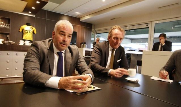 De ontslagen Hans Smulders en RvC-vz Joost Gielen.