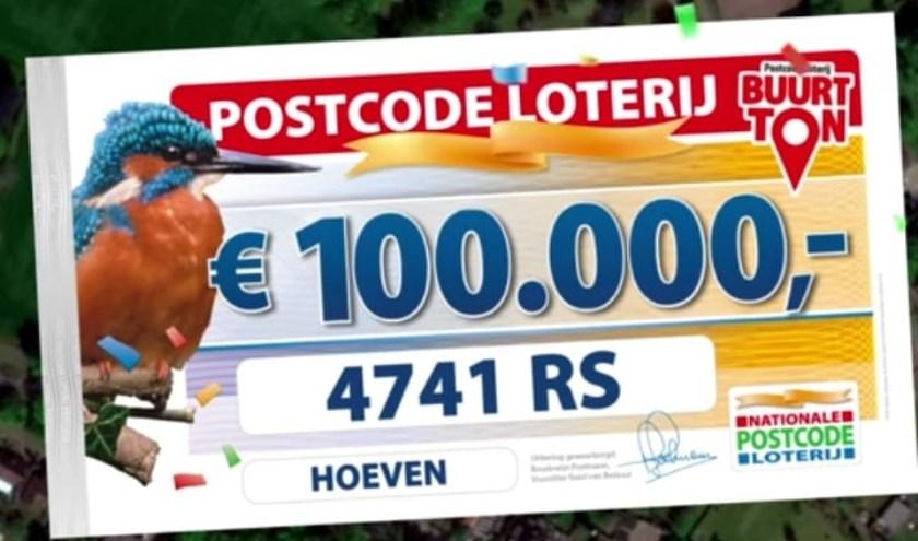 Deze postcode mag 100.000 euro verdelen.