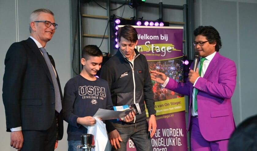 Eén van de scholieren won de prijs voor het 'Mooiste Visitekaartje'