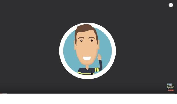 Het logo van politievlogger Jan-Willem.