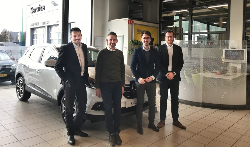 Het verkoopteam van Auto Indumij Etten-Leur.
