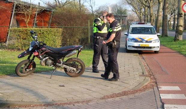 De politie was ter plekke.