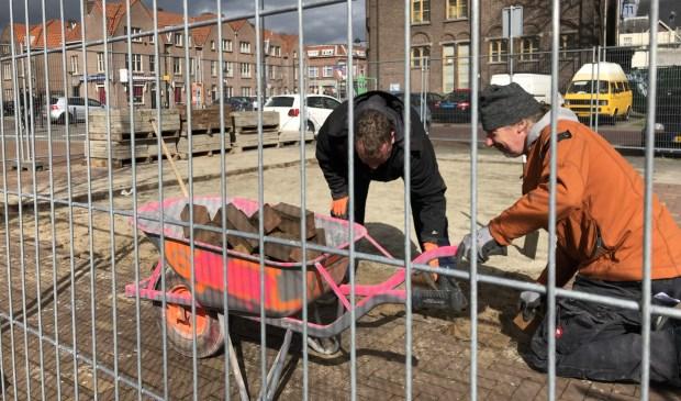 Op het Dr Jan Ingen Houszplein is begonnen met de herbouw van De Fer. Foto: Wijnand Nijs © BredaVandaag