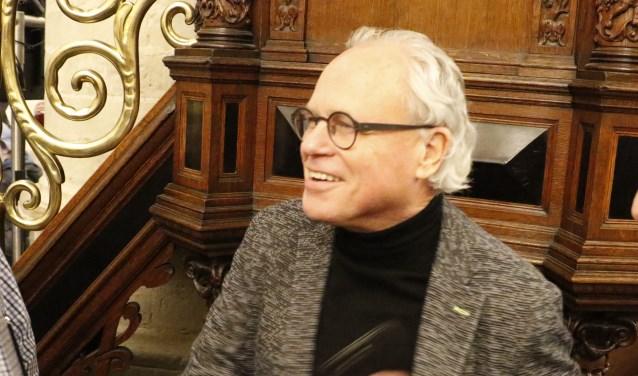 Cees Langeveld tijdens de nieuwjaarsreceptie van de gemeente Breda.