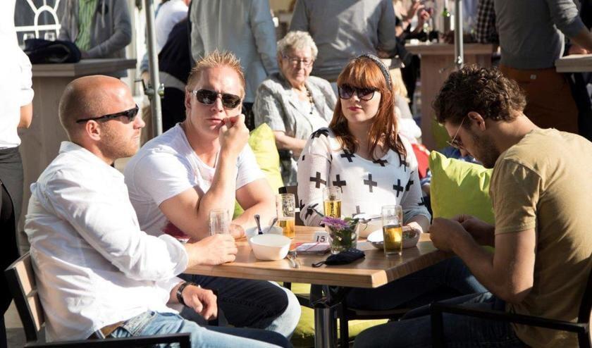 Het wordt uitstekend weer voor een terrasje tijdens de paasdagen