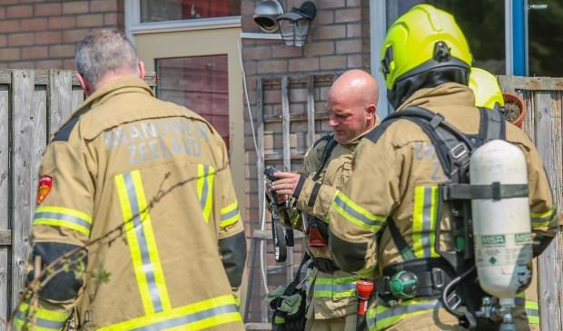 De brandweer is ook ter plaatse.