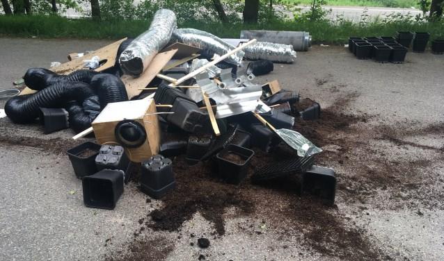 Er gaat geen week voorbij of er vindt in Noord-Brabant wel een dumping van drugsafval plaats. FOTO ERIK DE JONGE