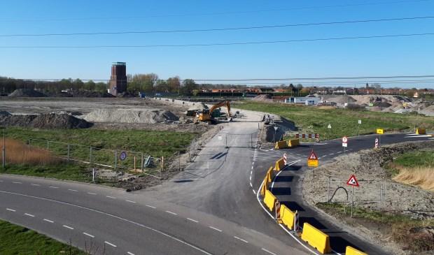 Er wordt volop gewerkt aan de nieuwe stadsentree.