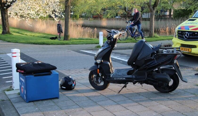 De scooter was beschadigd.