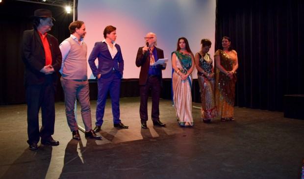 Bob Entrop tijdens de première van zijn laatste film over de Sinti.