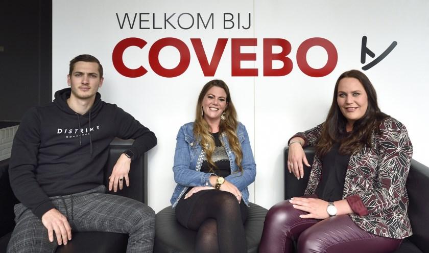 Ruben de Jager, Greet Krayenbrink en Carlein van den Berge van Covebo Uitzendgroep.