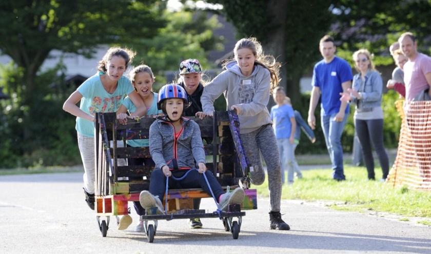 De zeepkistenrace is een hoogtepunt van de week in Rilland.