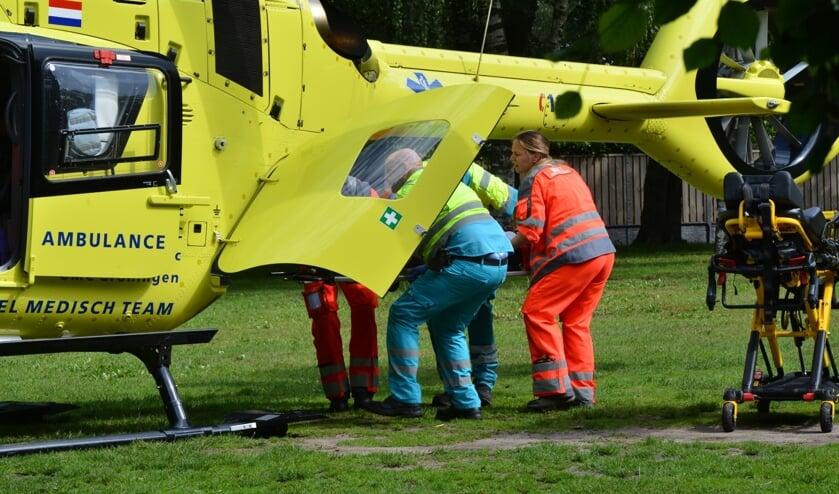 Het kind is met een traumahelikopter overgebracht naar het ziekenhuis.