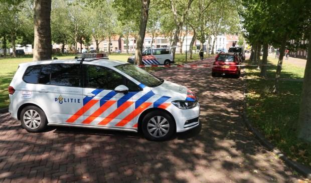 Een andere politieauto kwam ter plekke.