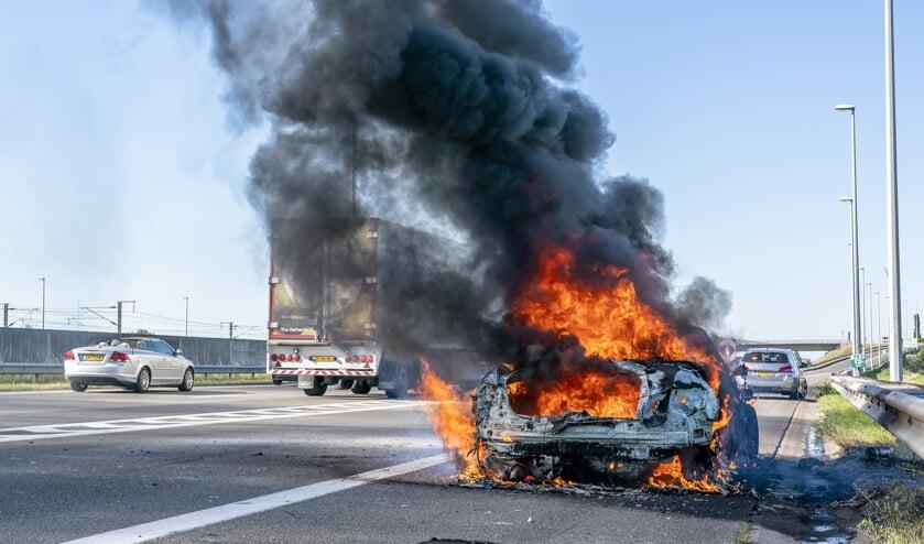 De auto was niet meer te redden.