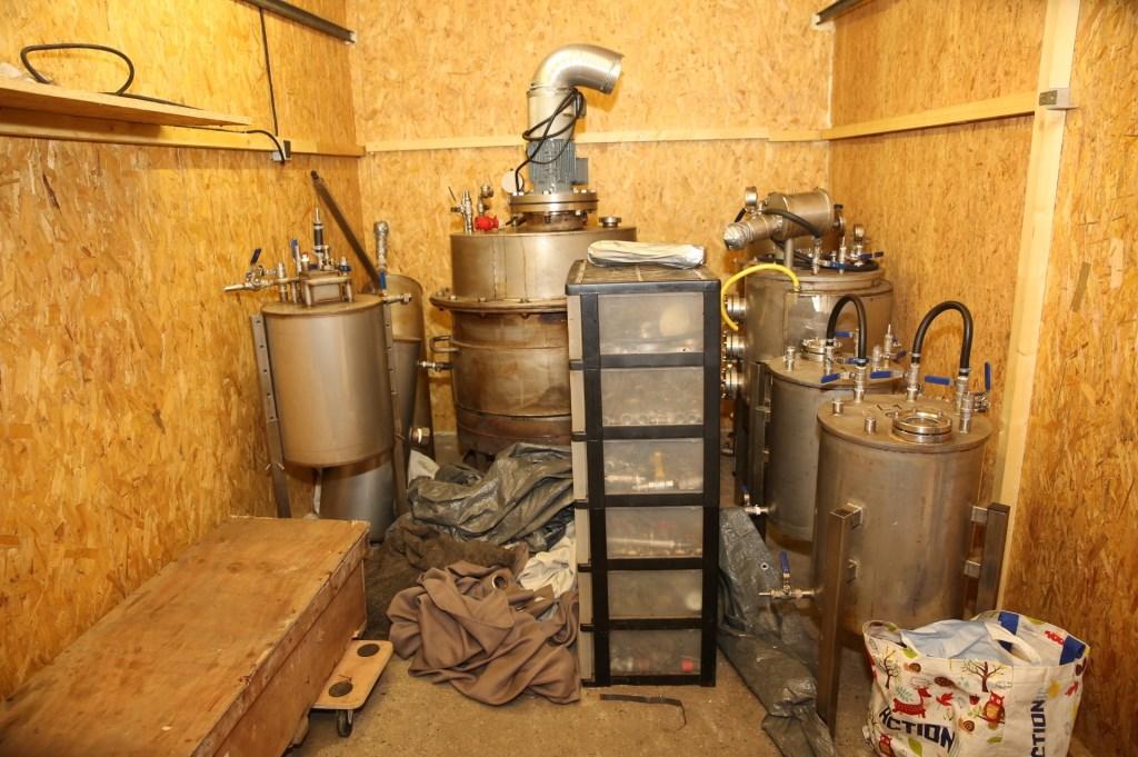 De binnenkant van de garagebox.  Foto: Christian Traets © Internetbode