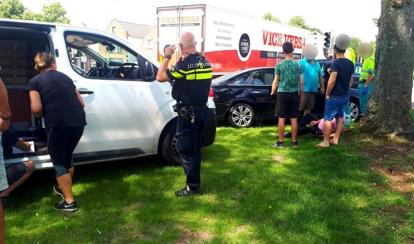 De politie assisteerde bij de afhandeling.