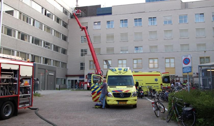 De brandweer, politie en ambulance kwamen ter plekke.