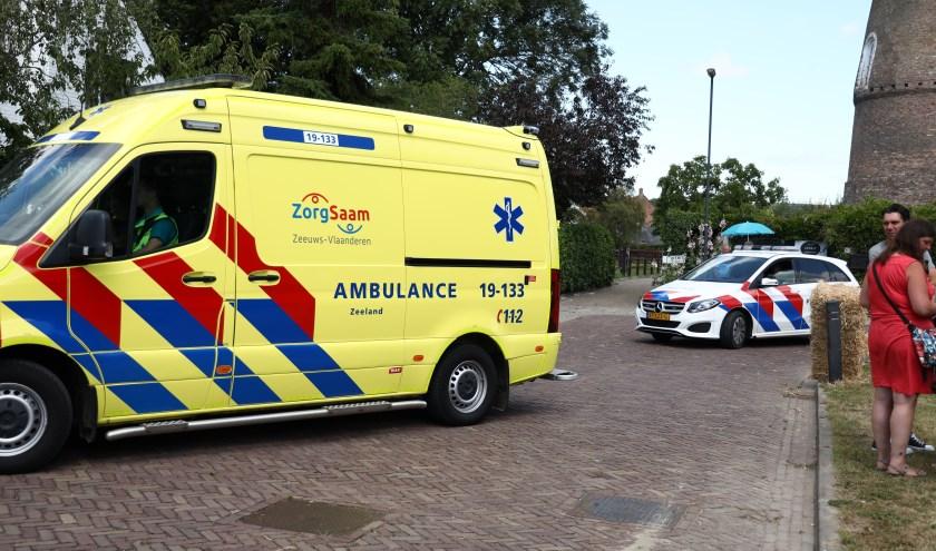 De ambulance en politie kwamen ter plekke.