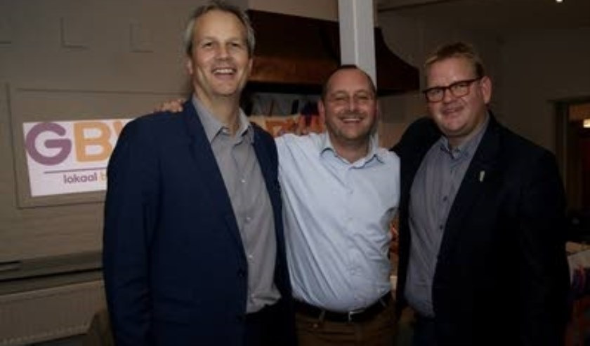 Evert Weys, Arjan van der Weegen (midden) en Patrick van der Velden