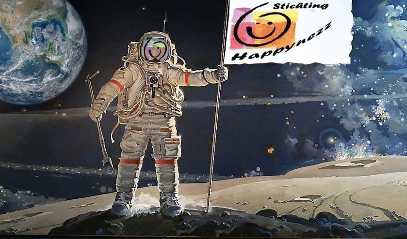 De stichting Happynezz maakt deze week een ruimtereis. ILLUSTRATIE STICHTING HAPPYNEZZ