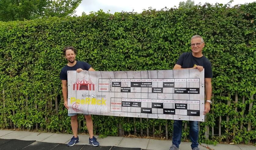 Jeroen Verburg en Ko de Koster van de organisatie van Peerock. FOTO EUGÈNE DE KOK