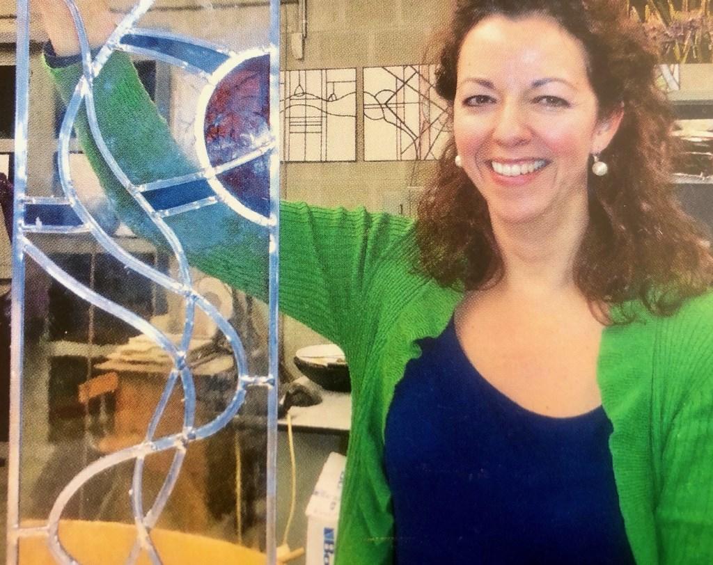 Privéfoto van een werkstuk gemaakt tijdens haar opleiding tot glazenier Foto: privéfoto © Internetbode